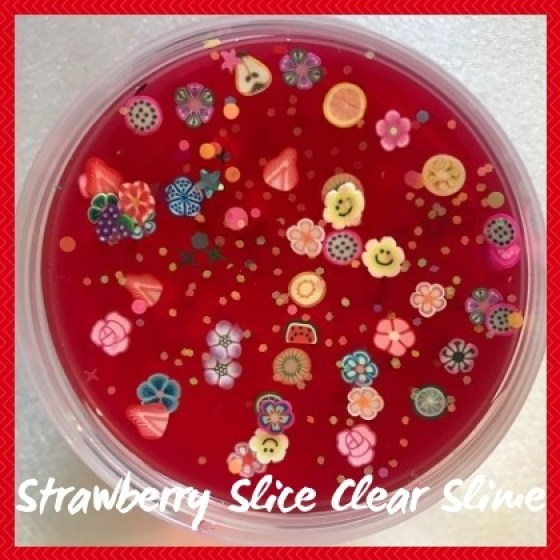 CLEA032 Strawberry Slice Clear Slime Sub Category Pic